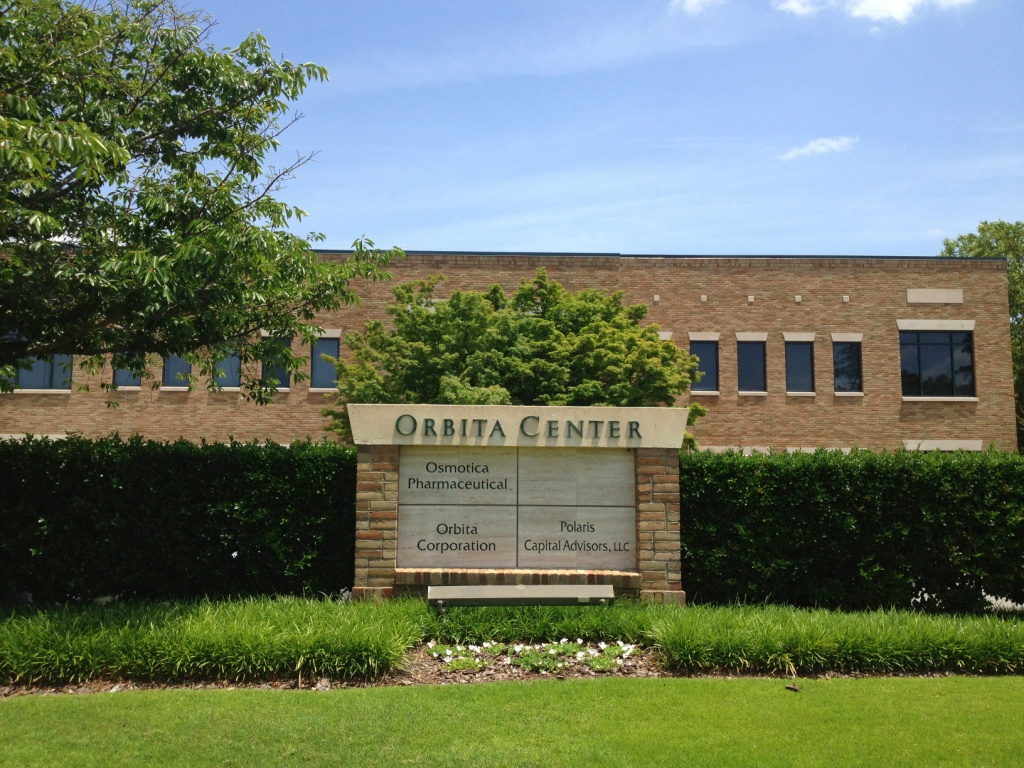 The Orbita Center signage on Culbreth Drive